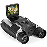 """Camonity 5M 2"""" LCD 16GB Digital Binocular with Camera 12X Zoom Video Photo Recorder Camcorder for..."""