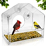 Nature Gear Window Bird Feeder - Refillable Sliding Tray - Weather Proof - Snow and Squirrel...