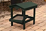 DutchCrafters Poly Covered Ground Bird Feeder with Removable Tray Made in America (Turf Green)
