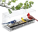 Wild Birds of Joy Window Bird Feeder with 4 Super Strong Suction Cups & Sliding Seed Tray, Large,...