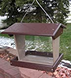 Amish Poly Large Outdoor Bird Feeder Made in America (Brown & Weatherwood)