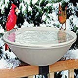 "Allied Precision Industries (650) Heated Bird Bath with Mounting Bracket, Light Stone Color, 20""..."