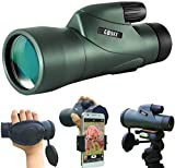 Gosky 12x55 High Definition Monocular Telescope and Quick Phone Holder-2020 Waterproof Monocular...